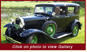 1931 Fordor Deluxe classic car rentals for weddings