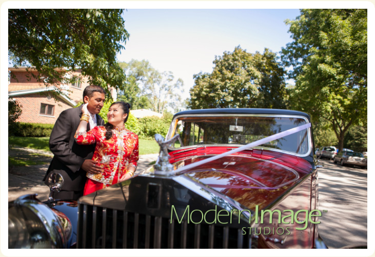 Vintage rental wedding cars