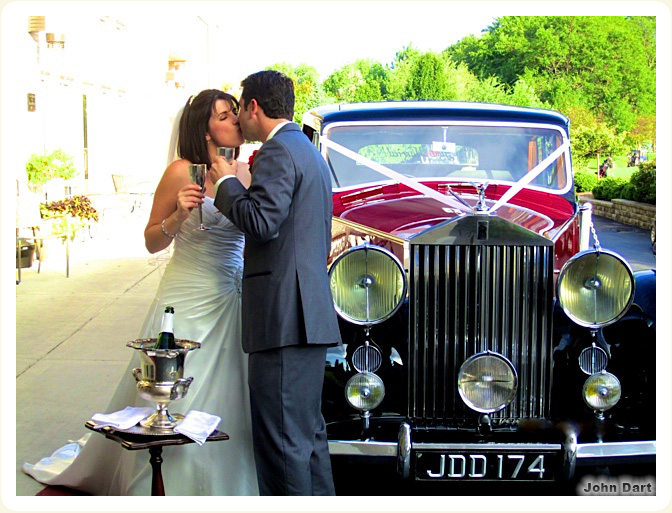 1948 wedding photos of 1948 Rolls Royce in a Classic Wedding Car