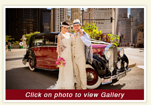 Wedding Gallery of 1948 Rolls Rental Car gallery at the Trump Tower in Chicago