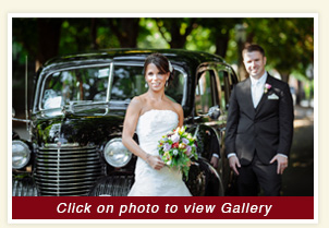 thumbnail for Debbie and Dave wedding in rental 1940 black Packard Limousine