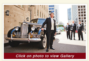 thumbnail of Teresa and Todd wedding, a 1940 Packard Limousine rental Classic Wedding Car